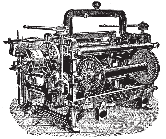 power loom, gas engine
